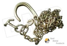 Tow Chain With J Hook Short Shank Tj Grab Hook 5/16 10ft G70 Tow Tractor Car 136