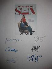Masters of Sex Signed TV Script x6 Michael Sheen Lizzy Caplan Beau Bridges repnt