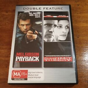 Payback + Conspiracy Theory Double Feature DVD R4 Like New! FREE POST