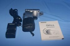 Pentax Optio S 3.2MP Digital Camera - Silver = Works Great.  512MB SD Card
