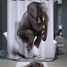 Duschvorhang Polyester Stinkpot Elefant Druck Badewannen Vorhang Wannen Vorhang,