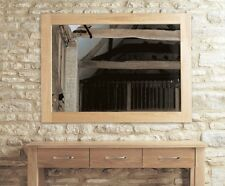 Mobel solid oak frame living room hallway furniture large wall mounted mirror