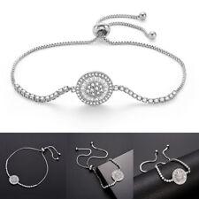 Fashion Women's Adjustable Cubic Zirconia Round Bracelet Jewelry Bangle Utility