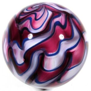 """Hot House Glass flame twist banded swirl marble 1.48"""" 37mm #658"""
