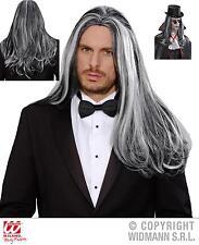 Peluca COMO cabello real hombre, VAMPIRO, GRIS-NEGRO M9