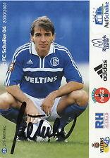 Fankarte 2000 2001 Jiri Nemec FC Schalke 04 Gelsenkirchen Fussball Bundesliga