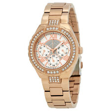 Guess Viva Silver Crystal Pave Dial Ladies Multifunction Watch W0111L3