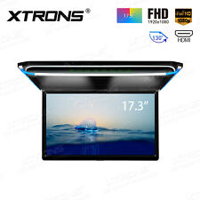 """17.3"""" Car Overhead Ceiling Roof Mount Monitor Flip Down 1080P Video HDMI Player"""