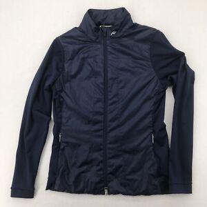 Kjus Women's Retention Jacket Size 38 M Dark Blue Golf Athletic Casual full zip