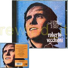 """ROBERTO VECCHIONI """"L'UOMO CHE SI GIOCA IL CIELO A DADI"""" RARO CD CGD TIMBRO SIAE"""