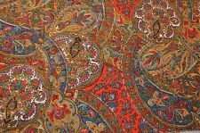 Scarf in Liberty Varuna Wool red, multi paisley style