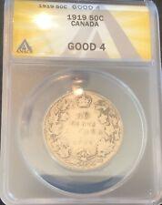 1919 CANADA SILVER HALF DOLLAR G4