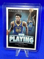 2020-21 PANINI NBA HOOPS JAMES WISEMAN NOW PLAYING ROOKIE INSERT WARRIORS