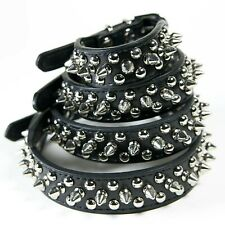 CoreLife Spiked Dog / Cat Collar Studded Leather Pet Collar Small Medium Large