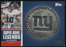 2011 Eli Manning Topps Super Bowl Legends Silver Coin 10/25 Giants JSY # 1/1
