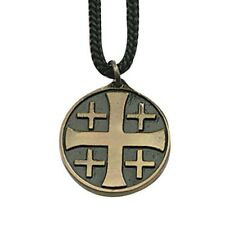 Jerusalem Cross Pendant (18491) 1 1/4 Inches With Cord in Gift Box