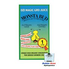 MONSTA BUD 1L ORGANIC HYDROPONIC NUTRIENTS OZI MAGIC FLOWER BLOOM NUTRIENT