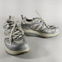 Skechers Shape-Ups Women's White & Silver Walking Toning Lace Up Shoes   Size 6