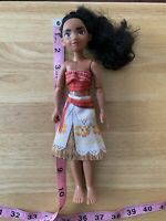 "2015 Disney Princess Hasbro Hawaiian Moana girl doll 9.5"" articulated in dress"