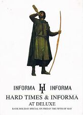 HARD TIMES INFORMA Rave Flyer Flyers A6 year unknown Deluxe Nottingham