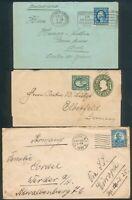 USA, 3 Auslandsbriefe , 1x Schweiz, 2x DR