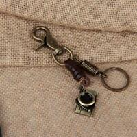 Vintage Camera Shape Leather Metal Key Chain Key Holder Jewelry Accessories