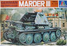 Italeri 1:35 German Self-Propelled Gun Marder III Plastic Model Kit 1995 No 210