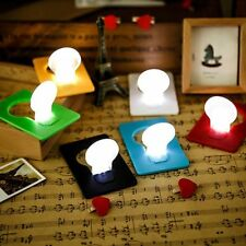 Popular Mini Portable Wallet Pocket Credit Card Size LED Night Light Lamp Bulbs