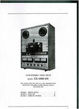 Akai Service Manual für GX- 400 D-SS englisch komplett  Kopie