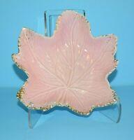 "Vintage California Original Pottery 6.5"" Pink Ceramic Maple Leaf Bowl Dish"