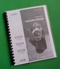 Canon Vixia HFR10 HFR11 HFR100 Camera 184 Page LASER PRINTED Owners Manual Guide