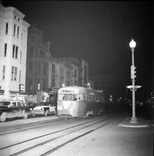 ORIGINAL 1957 CAPITAL TRANSIT DCT TROLLEY STREETCAR NEGATIVE WASHINGTON DC