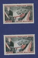 Ac67* Lot Timbres Neuf**MNH TBE (1961) n°1315 DINAN (Variété bleu absent +normal