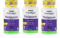 3X Natrol Melatonin 3 mg Strawberry Fast Dissolve 90 tablets Exp.8/20+