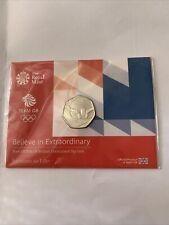 50 p coin, Olimpics swimming, TEAM GB, 2016,