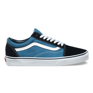 "Vans Off the Wall ""Old Skool"" Sneakers (Navy) Men's Skateboarding Shoes"