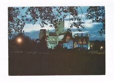 Postcard Wells Cathedral by Night Somerset Posted      (A21)