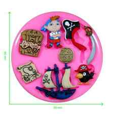 Pirate Treasure Island Ship Parrot Silicone Mould by Fairie Blessings
