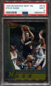 1996 Bowman's Best #R18 Steve Nash ROOKIE - PSA 9 MINT - 1996-97 Phoenix Suns RC