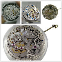 Watch Movement Silver Asian Full Skeleton 17 Jewels For ETA 6497 Hand-Winding