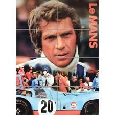 Le Mans Endurance 24 Hour Motor Race Steve Mcqueen Wall Art Poster 33X47 Inches
