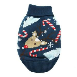 Doggie Design Ugly Reindeer Combed Cotton Cable Knit Dog Sweater XXS-3XL