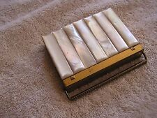 Vintage Volupte' Compact Mother of Pearl Multiple Compartment
