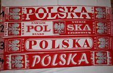 Polen schal -Fan schal- Szal Polska-Einseitig gewebt
