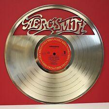 Aerosmith Laser Cut Gold LP Record Limited Edition Wall Art