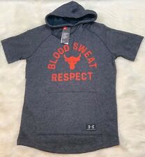 Under Armour x Project Rock Respect Men's Hoodie Gray / Black MEN'S SIZE SMALL