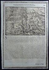 Gravures sur bois Woodcut print Jean Cousin Figures de la Sainte BIBLE Folio 101