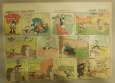 Donald Duck Sunday Page by Walt Disney from 9/21/1941 Half Page Size