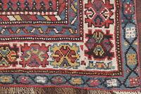 Pre-1900 Antique Tribal Caucasian Kazak 13 ft Runner Rug Vegetable Dye Wool 3x13