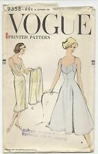 VTG 1957 VOGUE Princess Slip Petticoat Pantie PATTERN 9358 Sz 16 Partially Used